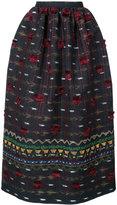 Oscar de la Renta tassel embroidered skirt