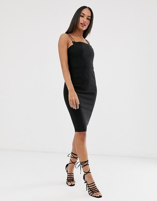 Vesper strappy square neck dress