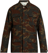 Off-White Logo and camouflage-print cotton field jacket