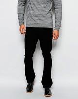 Asos Skinny Bootcut Trousers In Moleskin Look