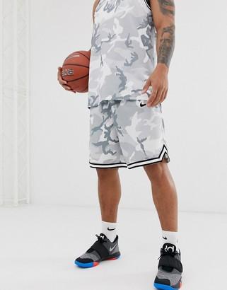 Nike Basketball dna camo shorts in gray