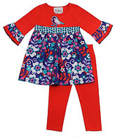 Rare Editions Infant Bird Mixed Media Top & Leggings Set