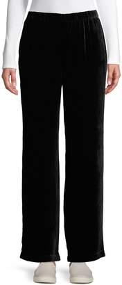 Eileen Fisher Pull-On Wide-Leg Pants