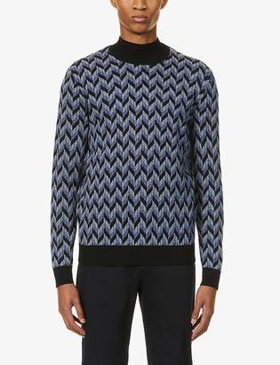 Emporio Armani Jacquard wool-blend jumper