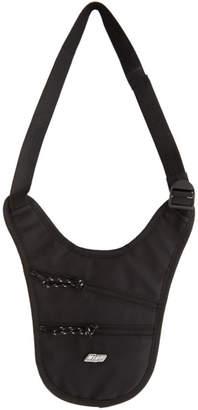 MSGM Black Nylon Side Backpack