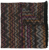 Missoni fringed knitted scarf - women - Polyester/Wool - One Size