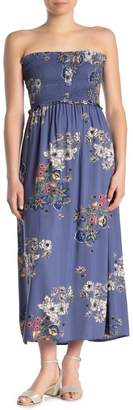 Angie Floral Smocked Bodice Maxi Dress