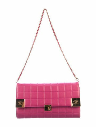 Chanel Chocolate Bar Clutch Fuchsia