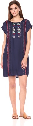 Tribal Women's Embroidered Dress with Pockets