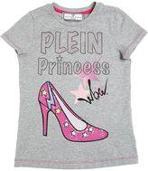 Philipp Plein Junior Crystal Shoes Cotton Jersey T-Shirt