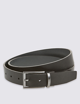M&S Collection Textured Leather Reversible Belt