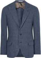Brunello Cucinelli - Blue Slub Linen Blazer