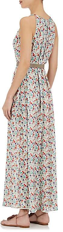 Barneys New York Women's Floral Silk Sleeveless Maxi Dress