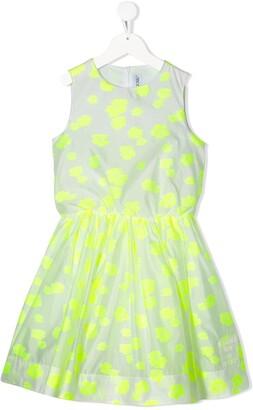 Simonetta Floral Print Flared Style Dress