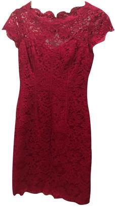 Monique Lhuillier Red Lace Dress for Women