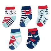 Mud Pie Nautical Crab Sock 4 Pair Set