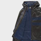 Paul Smith Men's Black Showerproof Hooded Jacket With Contrast Side-Stripes