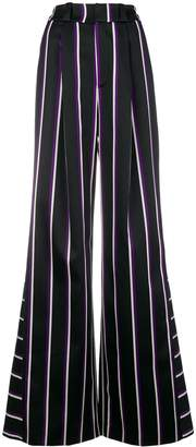 Margaux Rouge striped palazzo trousers