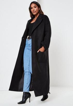 Missguided Black Oversized Formal Coat