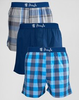 Pringle Woven Boxer 3 Pack In Navy