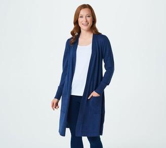 Denim & Co. Regular Marled Long-Sleeve Open-Front Cardigan