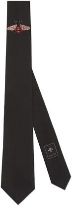 Gucci Bee underknot silk tie
