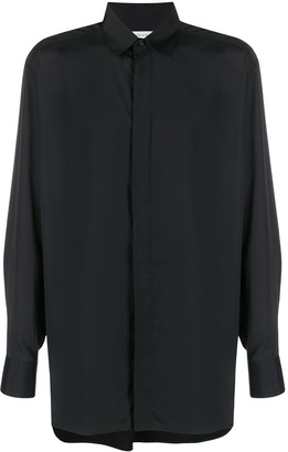 Bottega Veneta High-Low Hem Buttoned Shirt