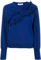 MSGM ruffled sweatshirt - women - Cotton - XS