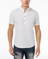INC International Concepts Men's Linen-Blend Popover Shirt, Created for Macy's