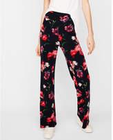 Express high waisted floral wide leg pant