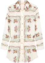 Tory Burch Brigitte floral-print cotton-blend tunic