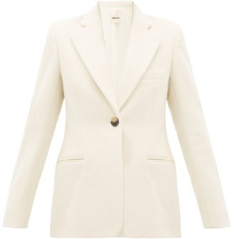 KHAITE Vera Single-breasted Wool-blend Blazer - Cream