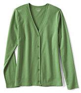 Lands' End Women's Petite Long Sleeve V-neck Cardigan-Prism