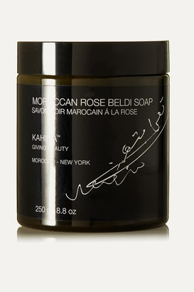 Kahina Giving Beauty Net Sustain Moroccan Rose Beldi Soap, 250g