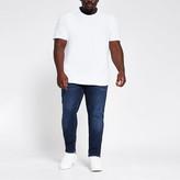 River Island Big and Tall dark blue Sid skinny fit jeans
