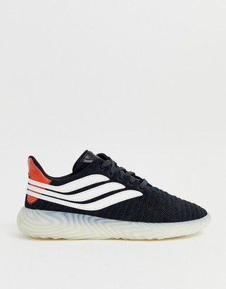 adidas Sobakov sneakers in white with gum sole