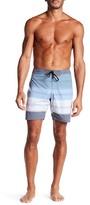 Ezekiel Griffy Striped Print Board Shorts