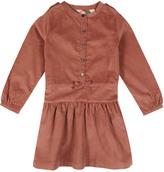 Burberry Celestine Ribbed Velvet Dress