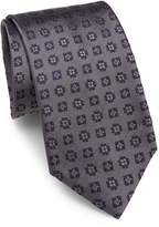 Brioni Men's Geometric Floral Silk Tie