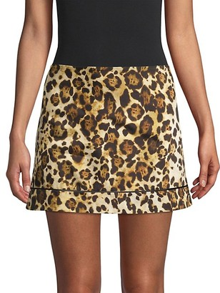 Alexis Rami Animal-Print Mini Skirt