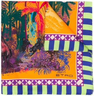 Etro Desert-print silk pocket square