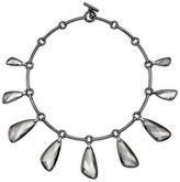 Swarovski Chandelier Necklace, Ruthenium plating