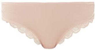 Hanro Wanda Jersey & Lace Briefs - Light Pink