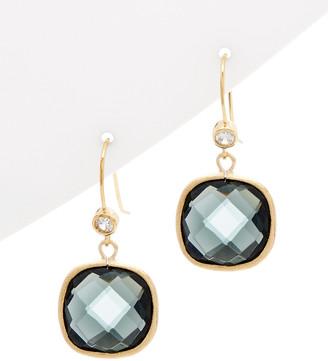 Rivka Friedman 18K Gold Clad Crystal Drop Earrings