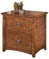 Signature Design by Ashley Cross Island Lateral File Cabinet Medium Brown
