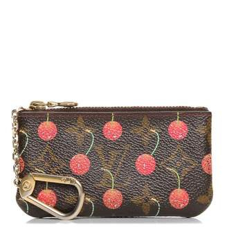 Louis Vuitton Key Pouch Cerises Cherry Monogram Brown/Red