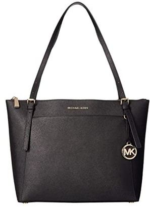 MICHAEL Michael Kors Voyager Large East/West Top Zip Tote (Black) Tote Handbags