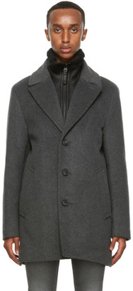 Mackage Grey Wool Dillon Coat