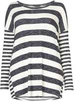 Dorothy Perkins DP Curve Navy and Ivory Stripe Jumper