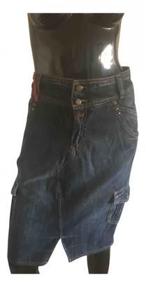 Kenzo Blue Cotton Skirts